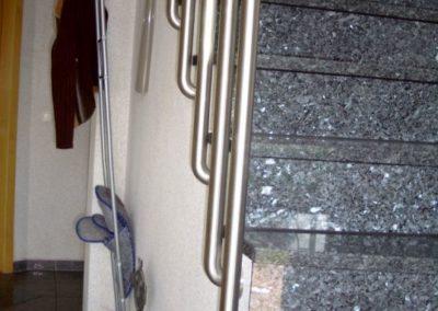 Treppengeländer, gefertigt aus Edelstahl