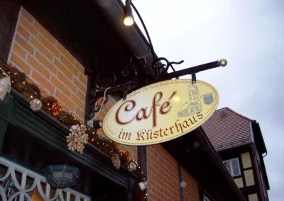 Werbeausleger Cafè im Küsterhaus, Grabow